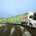 Giant Finnish roadtrain on the move…