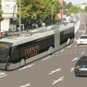 Modern Van Hool tram-busses