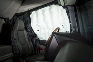 Deflected side airbag Södertälje, Sweden Photo: Dan Boman