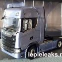 Scania design leaked by scale model