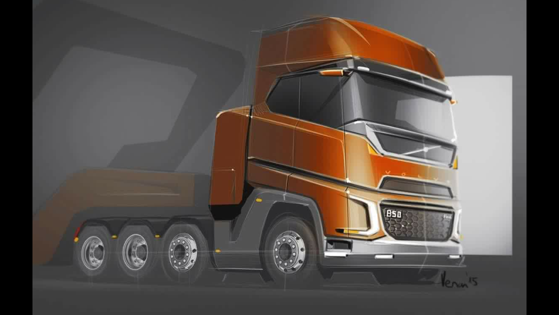 In This Artist Impression Of A Heavy Haulage Truck There Are Some Rather Interesting Design Lines The Cab Is Based On Fh4