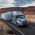 New Volvo VNL with standard driver assist system