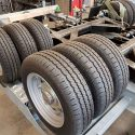 Six tyres on one axle!